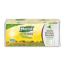 Marcal Small Steps 6506PK Recycled Luncheon Napkin - 1 Ply - 400 Sheets/Pack - 4