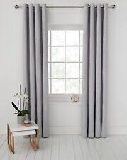 Argos Home Ribbed Lined Eyelet Curtain - 168x183cm - Grey.
