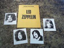 LED ZEPPELIN PHOTOS AND TOUR CARD