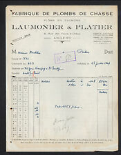 """ANGERS (49) USINE de PLOMBS de CHASSE """"P. LAUMONIER & P. PLATIER"""" en 1949"""