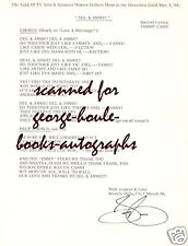 SAMMY CAHN~MANUSCRIPT~SIGNED~LOVE AND MARRIAGE