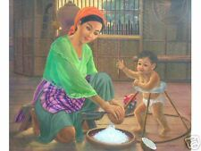 Mother & Child 30x36 Art Philippines Oil Painting