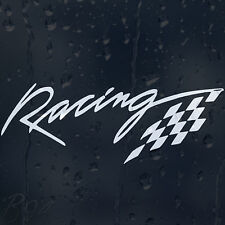 Racing Chequered Flag Car Bike Window Windscreen Body Panel Decal Vinyl Sticker
