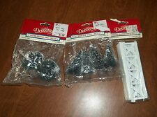 Lemax Dickensvale Collectibles- Trees, Shrubs, Fence