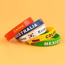 Brasil Rio Olímpico Silicona Wristband Bandera Hombres Pintado Mujeres Pulseras