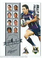 2012 NRL Select Dynasty Team of The Year Card Set 9 Cards Ty1 to Ty9