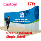 17ft Curved Back Wall Display with Custom Fabric Graphic Single Sided