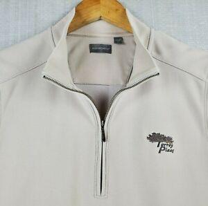 ASHWORTH x TORREY PINES Size Medium Mens 1/4 Zip Light Khaki Golf Casual Vest