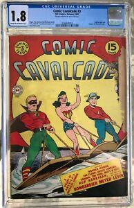 Comic Cavalcade #3 (1943) CGC 1.8 -- Hop Harrigan and Sargon the Sorceror begin
