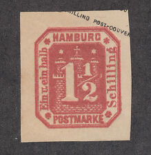 Hamburg Sc 25 reprint MNG. 1866 1½s Numeral over Coat of Arms, VF