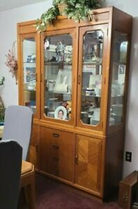 Dining Room Set - 6 Chairs - Used - Natural Wood Stain