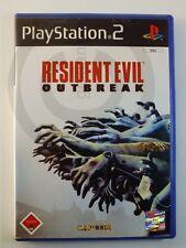 !!! PLAYSTATION PS2 SPIEL Resident Evil Outbreak USK18, gebraucht aber GUT !!!