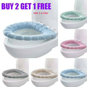 Bathroom Comfy Toilet Seat Cover Washable Warm Mat Pad Lid Cushion Closestool US