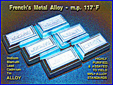 INDIUM ALLOY 117 m.p. 117°F for Casting/Holding for Machining / 400gm
