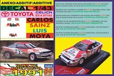 ANEXO DECAL 1/43 TOYOTA CELICA CARLOS SAINZ RALLY PORTUGAL 1991 (01)