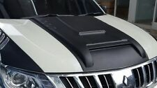 MATT BLACK HOOD SCOOP BONNET FOR MITSUBISHI TRITON 2015-17