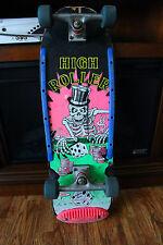 Vintage Valterra Skateboard High Roller Skeleton Design Sold As Is Pink Blue