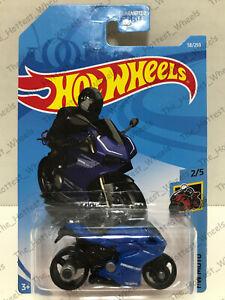 2019 HOT WHEELS #58/250 DUCATI 1199 PANIGALE #2/5 HW MOTO BLUE CORSE MOTORCYCLE