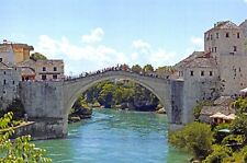New Postcard Stari Most Old Bridge Arch Bridge Mostar, Bosnia & Herzegovina 84F
