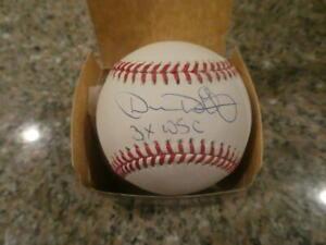 Devon White Toronto Blue Jays Signed MLB Baseball COA  Inscription