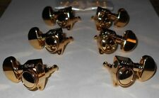 GENUINE GOLD GROVER LOCKING 18:1 TUNERS FOR GRETSCH GIBSON MARTIN GUITARS