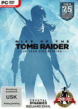 Rise Of The Tomb Raider 20 Year Celebration Day One Edition PC DVD Rom Box Neu