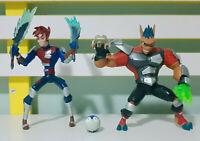 Lot of 2x Aerrow & Junko Storm Hawks Figures Spinmaster 2007 Cartoon Network!