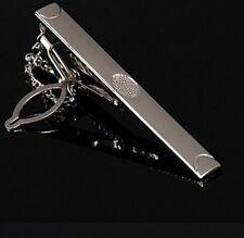 Gentleman Silver Metal Simple Practical Plain Necktie Tie Clip Bar Clasp