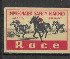 MATCHBOX LABELS-GERMANY. Horse race , export label