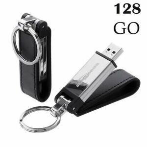 128 GO CLE USB 3.0 Alliage De Zinc Mémoire Flash Drive Pour PC Elégant Noir