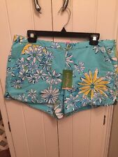 Lilly Pulitzer NWT Adie Shorts Breakwater Blue Daisy Dance Allover  Size 12