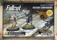 Modiphius:Fallout Wasteland Warfare 32mm Minis Survivors Boston Companions (3)