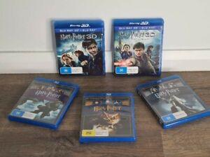 5 x Bulk Blu ray Harry Potter DVDs blu Ray 3d