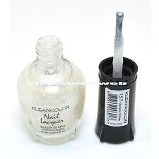 1 Kleancolor Nail Polish Lacquer #157 Metallic White Manicure Pedicure