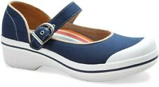 Dansko Women's Valerie Navy Blue Canvas Mary Jane Clog Shoes Sz eu 40/us 9.5-10