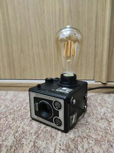 Camera Lamp Industrial Retro Vintage Upcycled Kodak Brownie Box Film LED