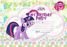 My Little pony Party invitations Unpersonalized X 8 CARDS,rainbow dash.Rarity