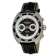 NEW Hamilton Men's H35756735 Pan Europ Auto Chrono Black Watch