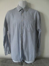 BLUE HARBOUR - BLUE STRIPED Long Sleeved POLYCotton Shirt Size 15.5