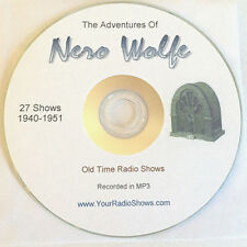 Nero Wolfe 1 CD 27 Shows-Old Time Radio-Detective-Mystery-ONLY $3.99 FREE S&H