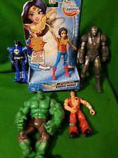 Superhero Action Figure Bundle Batman Hulk iron man wonder woman dc marvel