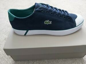 Lacoste gripshot plimsolls Men's Shoes Canvas in Navy Size 11 UK