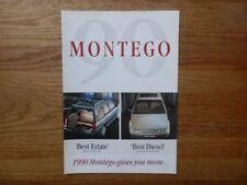 Montego Paper 1990 Car Sales Brochures