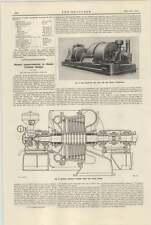 1921 English Electric Company Steam Turbine Improvements