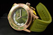 "Invicta Men's 45mm Specialty ""Green Beret"" Gold Case Silicone Quartz Watch"