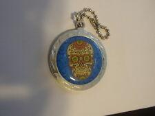 Day of the Dead SKULL Dia de los muertos key chain medallion - Very detailed.