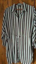 Topshop Blue Striped Shirt Dress Size 10