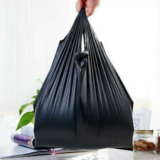 Small 10 T Shirt Bag Black Grocery Store Retail Large Shopping Carry Out Bags