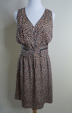 Mayle button up silk printed sleeveless sundress with zipper detail size 6