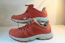 LL Bean Mens Size 10M Hiking Walking Rust Orange Bungee Laces Sneakers Shoes